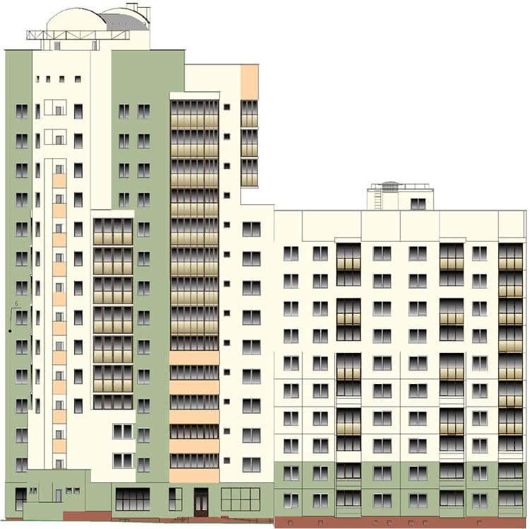 Жилой дом № 6 по ул. Пролетарской - Щорса в г. Гродно - фото 1