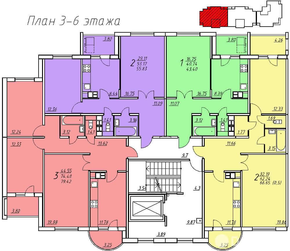Жилой комплекс «Колбасино» по ул. Суворова в г. Гродно. Многоквартирный жилой дом №318. - фото 6