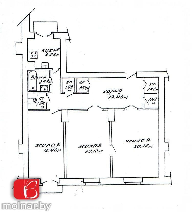 Купить 3-комнатную квартиру в Минске, ул. Коммунистическая, д. 8 - фото 2