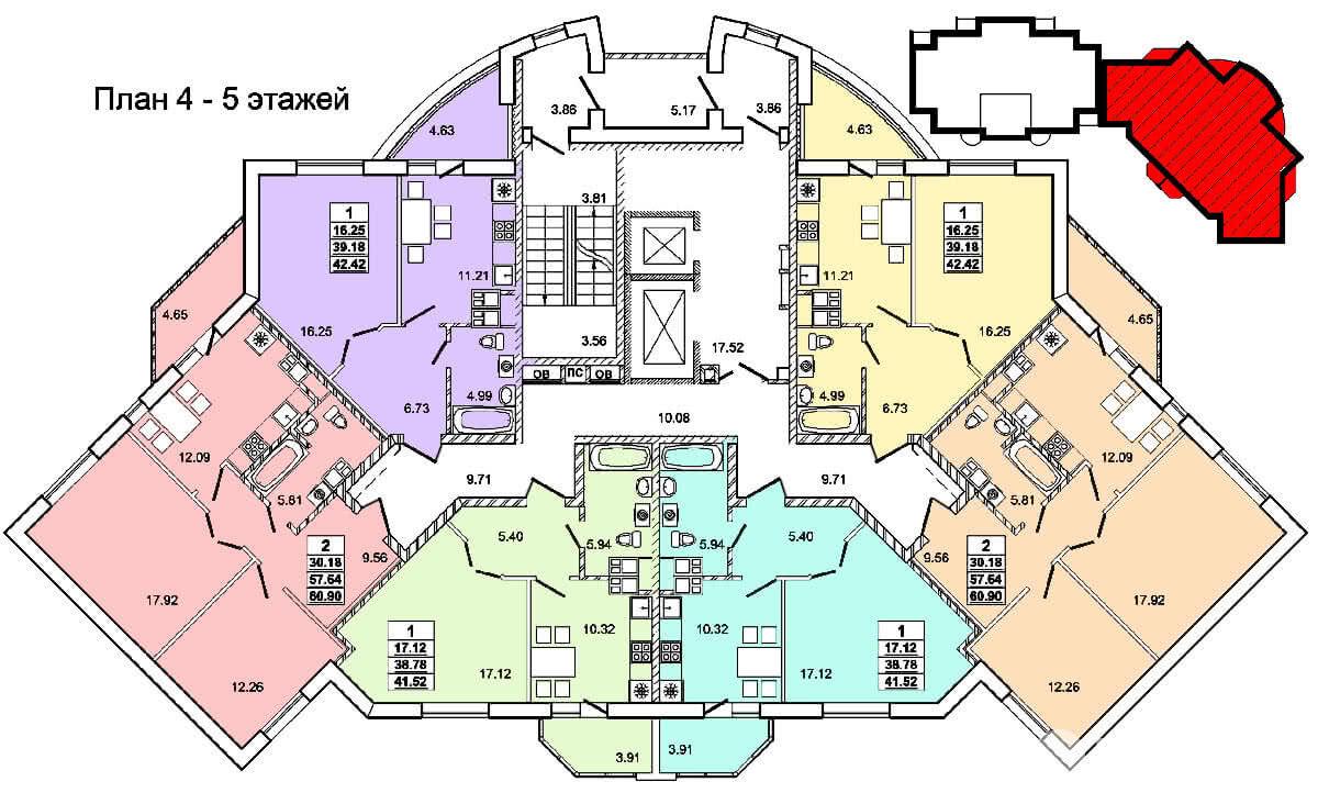 Жилой дом № 2 по ул. Пролетарской - Щорса в г. Гродно - фото 6