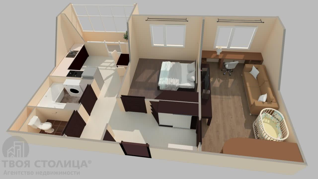 Продажа 2-комнатной квартиры в Минске, ул. Академика Карского, д. 21 - фото 3