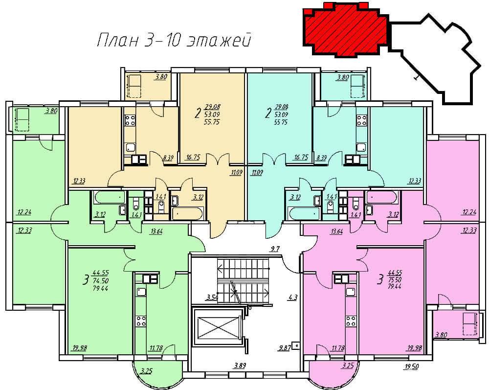 Жилой дом № 6 по ул. Пролетарской - Щорса в г. Гродно - фото 6